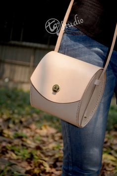 Leather Purse Small Messenger Bag Leather shoulder handbag Veg Tanned Leather on Etsy, $138.00