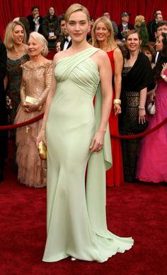 Kate Winslet, em 2007, com um vestido Valentino no valor de 91 mil euros.