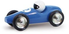 Vilac Race Car Toy, Blue by Vilac. $34.86. Perfect size for little hands. Bright blue color with the racer in the seat. Vilac has been the maker of high quality, award winning toys since 1911. Lacquered hard wood with non-toxic finish. Beautiful, high quality Lacquered Wood Race Car. Hours of fun playing with this beautiful, bright push along race car. Designed and made in France. Recommended for Ages 1+. Vilac has been the maker of high quality, award winning toys since 1911.