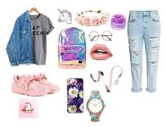 """""""Без названия #1"""" by sankasasankablyat ❤ liked on Polyvore featuring Puma, Spiral, Forever 21, FOSSIL, FCTRY and Studio Time"""