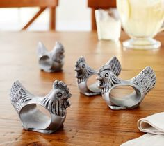 Rooster Napkin Ring, Set of 4 | Pottery Barn