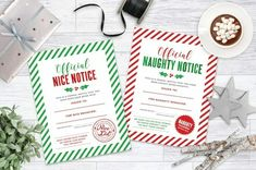Elf on the Shelf Idea - Nice and Naughty Notice Printable Christmas Art For Kids, Christmas On A Budget, Christmas Crafts For Kids, Simple Christmas, All Things Christmas, Holiday, Elf Letters, Letters For Kids, Elf On The Shelf Skittles