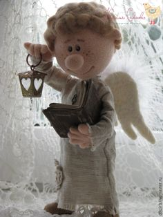 Купить Не бойся ,я рядом... - разноцветный, ангел, ангел-хранитель, ангелочек, валяная игрушка