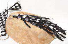 beautiful leather quaste #keychains #leather #metallic