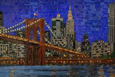 Brooklyn bridge mosaic