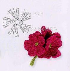 Album Archive - Flower motif, freeform, trim, applique, etc Crochet Flower Tutorial, Crochet Flower Patterns, Flower Applique, Crochet Motif, Crochet Designs, Crochet Flowers, Fabric Flowers, Flower Chart, Crochet Embellishments