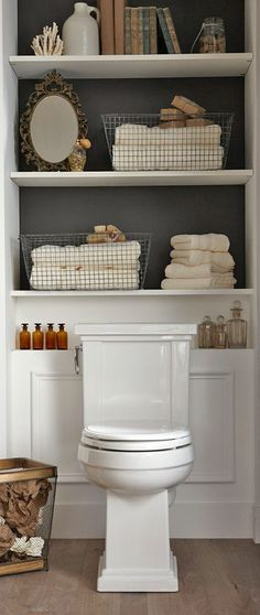 Organizing with Baskets • A roundup of great Ideas and Tutorials! Including, from 'shelterness', these wonderful wire baskets. And they don't look half bad, either.