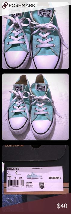 """NWT CONVERSE SHOES WOMENS 9 """"SEA GLASS"""" 🏝🐬🌊 NWT CONVERSE SHOES WOMENS 9 """"SEA GLASS"""" 🏝🐬🌊 (COMES WITH BOX) Converse Shoes Sneakers"""