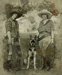 """""""Cowgirls"""" Date unknown ~but judging from the hairstyles I would guess 1920s or early 1930s 