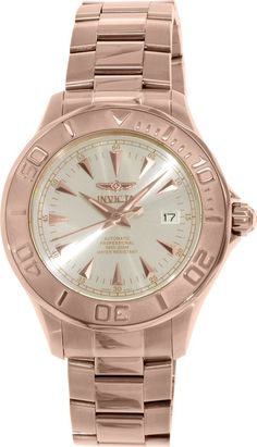 Invicta Men's Signature INV-7111 Rose Gold Stainless-Steel Automatic Watch #Invicta #DivingWatches