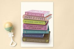 Bookworm Baby Shower Invitations by 24th and Dune at minted.com