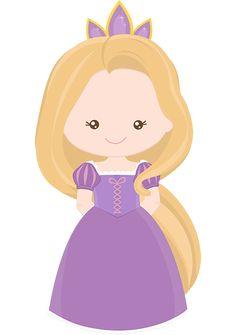 Princess Rapunzel from Tangles~Clipart! Disney Rapunzel, Princess Rapunzel, Princess Party, Little Princess, Fuchs Silhouette, Chateau Moyen Age, Clip Art, Cute Clipart, Kawaii