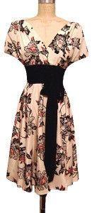 Obi Dress in Cinnabar, heavy weight silk crepe de chine, Winter 2009, 2-10, $253 https://web.archive.org/web/20090202045602/http://trashydiva.com/trashydiva/obi1CINNABAR.html