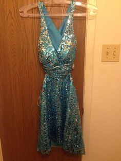 www.pageantresale.com - Light Blue WOW Prom Dress. Click for more details or to contact the seller.  Have something to sell? Visit www.pageantresale.com to get started! #wowcocktail #pageantcocktail #pageantresale