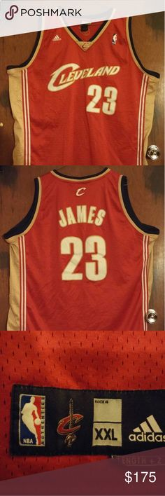 LeBron James Authentic Jersey For your consideration we offer LeBron James  Authentic Cleveland Cavaliers Jersey Sewn in Numbers and Name The size is  XXL ... 1ba100037