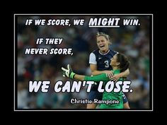 "Soccer Poster Christie Rampone Photo Quote Wall Art Print 8x11"" If We Score We Might Win - If They Never Score We Can't Lose -Free USA Ship by ArleyArtEmporium on Etsy"