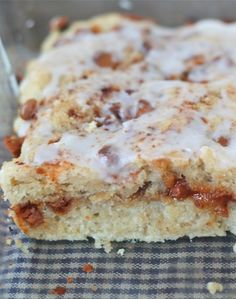 Gooey Cinnamon Biscuits Recipe on twopeasandtheirpod.com These easy biscuits are made in a pan and SO good!