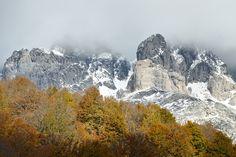 Otoño sobre la cara sur del Macizo Occidental de Picos de Europa