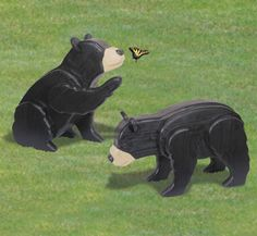 3D Life-Size Bear Cubs Woodcraft Pattern Imagine the surprise when these realistic little cubs are spotted frolicking in your yard! #diy #woodcraftpatterns