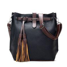 2016 Hot Sale New Women PU Leather Handbags for Woman Fashion Designer Black Bucket Vintage Shoulder Bags Women Messenger Bag