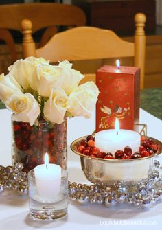 We love Decorating with Cranberries |  brightboldbeautiful.com