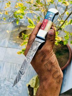 TEXAS FLAG HANDLE DAMASCUS FILLET KNIFE Fillet Knife, Texas Flags, Damascus, Handle, Damask, Door Knob