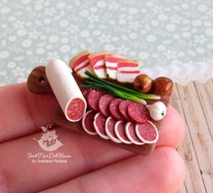 Miniature board with foods for dolls and doll houses.Scale 1:12 Will be a beautiful decoration puppet interior. Food and the board made by