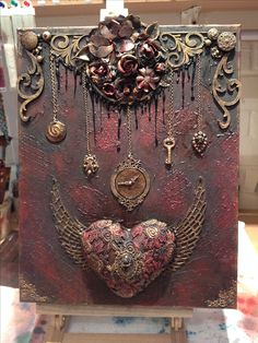 Amelia's altered art on Facebook