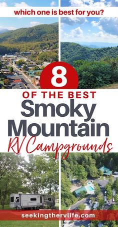 RV Campgrounds in Smoky Mountains - Seeking The RV Life Rv Camping Tips, Travel Trailer Camping, Camping Places, Camping Spots, Rv Travel, Van Camping, Camping Ideas, Travel Destinations, Travel Trailers