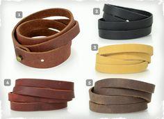 Split Leather Wrist Band