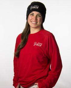 Knit Beanie Black $10   Performance Tee Long Sleeve Red $15