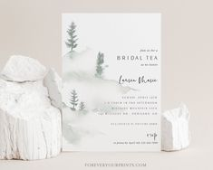 Rustic Bridal Shower Tea Invitation Template Wedding Shower | Etsy