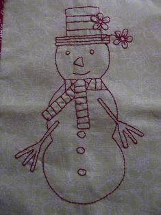 Christmas Snowman Stitchery - 4 Sizes | Craftsy