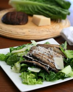 Grilled Portobello Caesar Salad – Low Carb and Gluten-Free