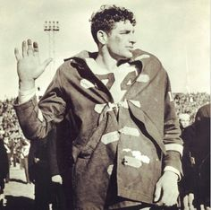 Texas A&M's Martin Ruby enlisting in the Navy at halftime of the 1942 Cotton Bowl Classic, three weeks after the bombing of Pearl Harbor.