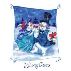 Snowman Holiday HEAT PRESS TRANSFER for T Shirt Tote Bag Sweatshirt Fabric #101d #AB