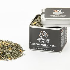 Organic herbal tea PHILOXENIA - Organic Islands - βιοΠοιότητα Organic Herbal Tea, Organic Herbs, Grilled Meat, Medicinal Plants, Cold Drinks, Herbalism, Greece, Caffeine, Poultry