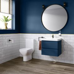 Our site is temporary offline for maintenance. - Our site is temporary offline for maintenance. Denver II Matte Blue Built In Basin Drawer Unit – Wall Hung Royal Blue Bathrooms, Navy Blue Bathroom Decor, Blue Bathroom Vanity, Bathroom Colors, Small Bathroom, Master Bathroom, Bathroom Rugs, Shower Bathroom, Bathroom Fixtures