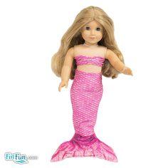 Malibu Pink Doll Tail and Top - American Girl $12.95