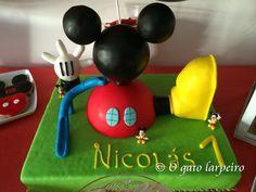 Tarta de La Casa de Mickey Mouse. Mickey Mouse Clubhouse Cake.