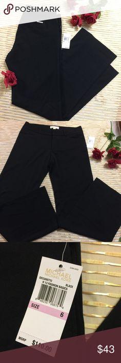 "NWT MICHAEL Michael Kors Black Wide Leg Trousers 6 Brand new with tags, MSRP $110, MICHAEL Michael Kors Black Dress Pants. 31"" inseam. 9"" rise. Size 6. Wide Leg. Perfect career piece. MICHAEL Michael Kors Pants Trousers"