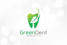 Green Dental Logo Template by gunaonedesign on Creative Market