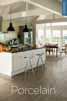 Porcelain Tile - Porcelain Slate Tile Wood Look - Mannington Flooring