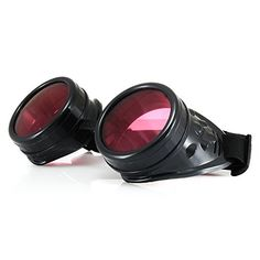 Steampunk - 4sold Steampunk Black Silver Copper Cyber Goggles Goth Vintage Victorian Sunglasses  clear lenses