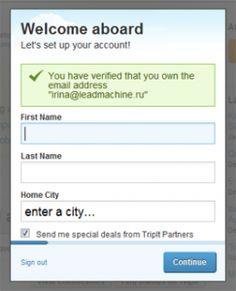 ленивая форма регистрации