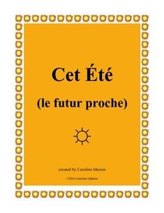 """When thoughts turn to summer vacation, go with the flow and review or drill the futur proche (aller + infinitive). Students stand and circulate trying to find """"yes"""" answers to questions about summer activities. """"Est-ce que tu vas faire un voyage?"""" 1st-2nd yr. French 6th-10th gr. $"""