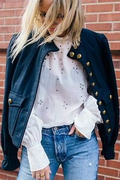 Regan Puff Sleeve Blazer by Free People