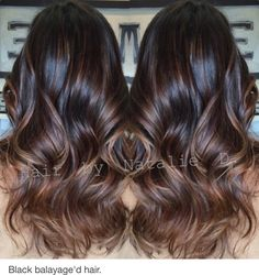 Balayage'd black hair