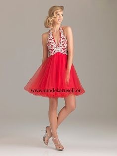 Abendkleid Kurz in Rot