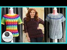 Bobwilson Crochet Tunic Tutorial Part 1/3 Sm/Med/Lg - YouTube